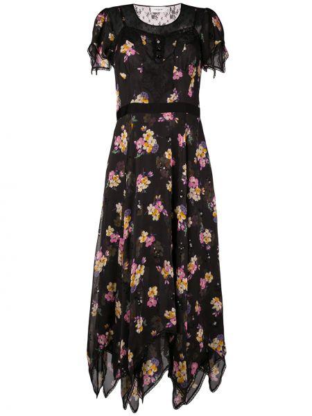 Платье шелковое черное Coach