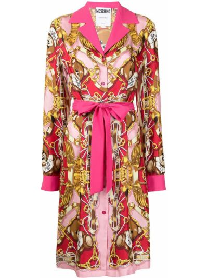 Розовое платье с кулиской Moschino