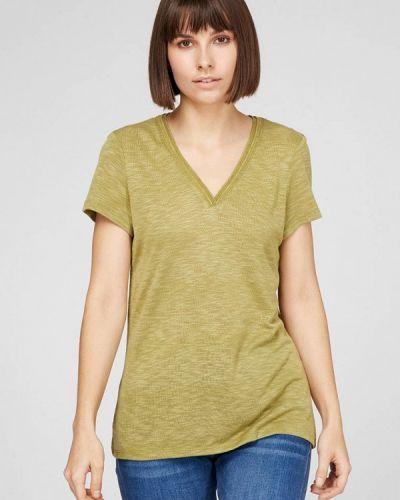 Зеленая футболка с короткими рукавами Esprit