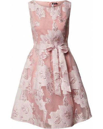 Różowa sukienka z paskiem Paradi