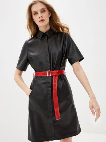 Повседневное платье черное весеннее Karl Lagerfeld