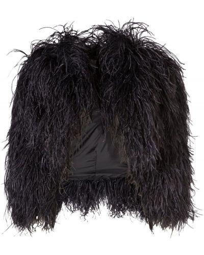 Czarny bolerko z jedwabiu Dolce And Gabbana