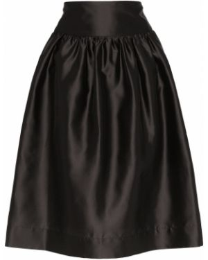 Черная приталенная юбка Deitas