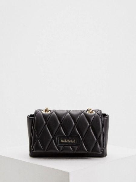 Кожаная сумка через плечо черная Baldinini