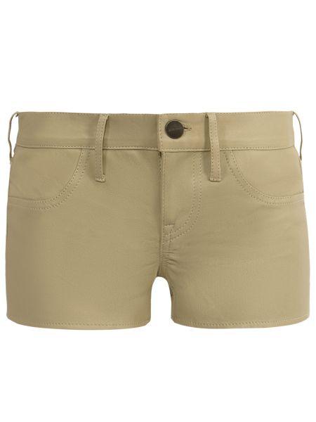 Кожаные бежевые шорты с карманами на пуговицах Jacob Cohen