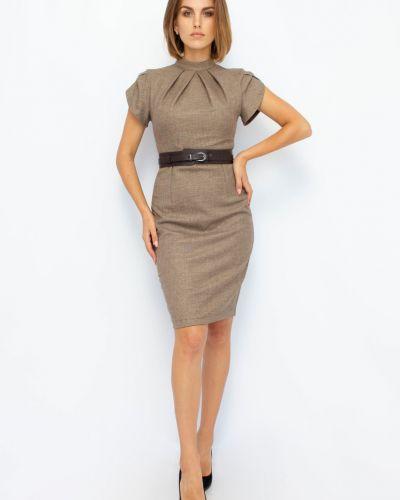 Платье мини короткое - коричневое Espiga