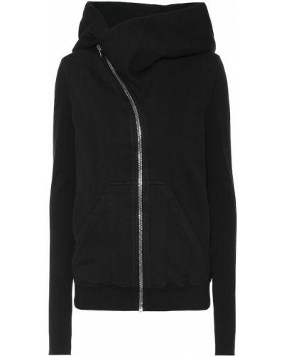 Bawełna bawełna czarny bluza z kapturem Rick Owens