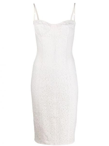 Нейлоновое приталенное платье с вырезом эластичное Dolce & Gabbana Pre-owned