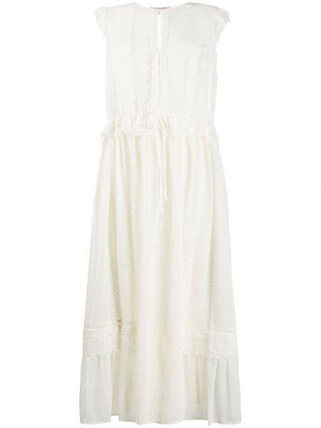 Свободное платье миди свободного кроя с вырезом Twin-set