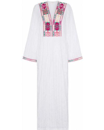 Платье макси с вышивкой Celia Dragouni