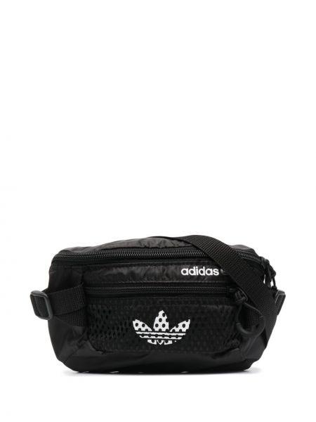 Czarny pasek z paskiem bawełniany Adidas