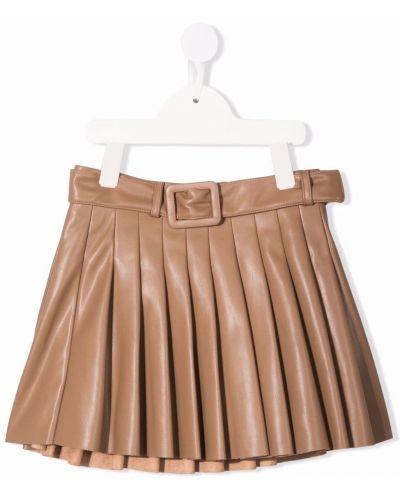 Spódnica plisowana - brązowa Miss Grant Kids