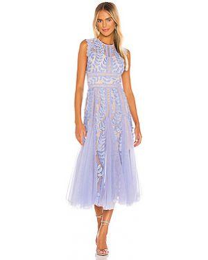 Платье из фатина с цветочным принтом Bronx And Banco