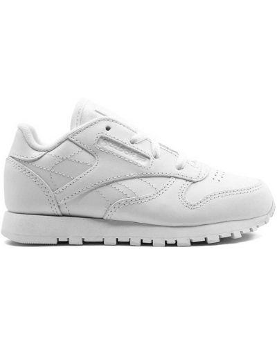 Кожаные белые классические кожаные кроссовки на шнуровке Reebok Kids