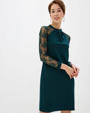 Вечернее платье осеннее зеленый Incity