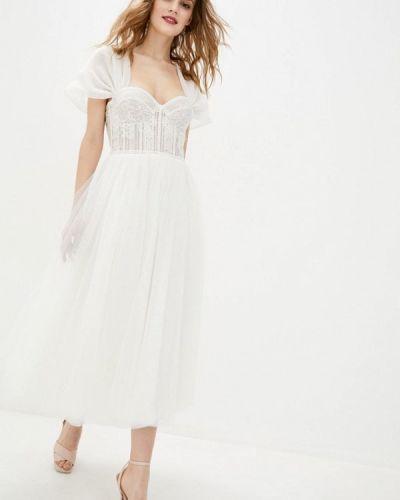Белое вечернее платье Miodress