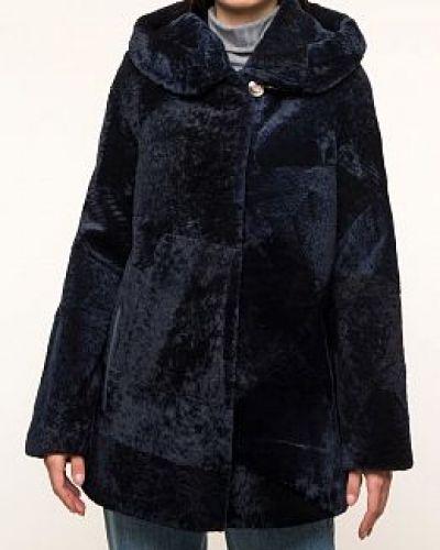 Кожаная куртка с мехом - серая Dzhanbekoff