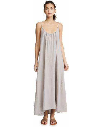 Хлопковое платье макси без рукавов с декольте 9seed