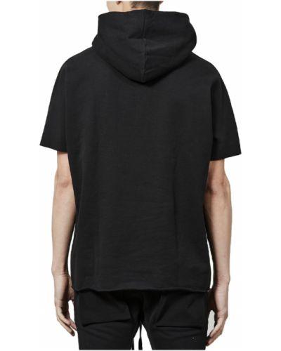 Czarna bluza z nadrukiem z printem Thom Krom