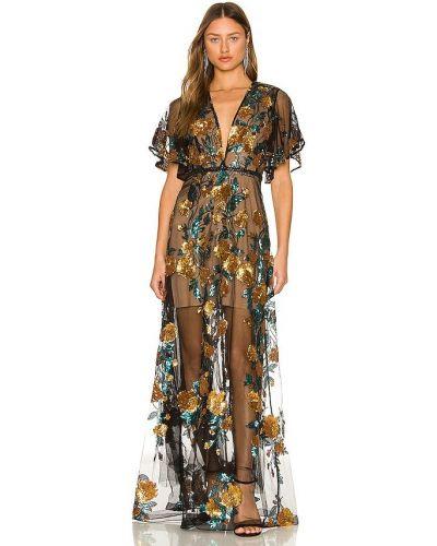 Пляжное платье макси - черное Bronx And Banco