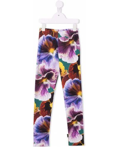 Fioletowe spodnie bawełniane Molo Kids