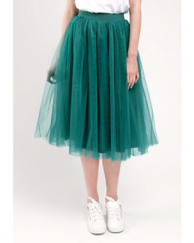 Зеленая юбка широкая Gee!