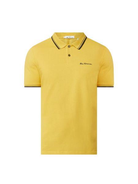 Żółty t-shirt bawełniany Ben Sherman