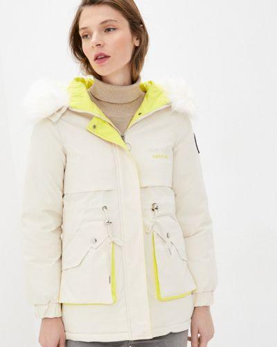 Утепленная белая куртка Miss Gabby