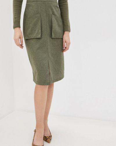 Зеленая прямая юбка карандаш Trendyol