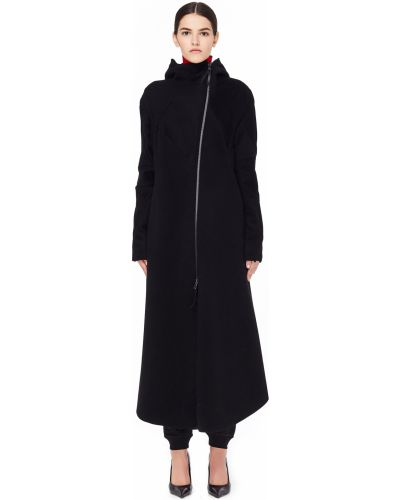 Пальто с капюшоном расклешенное шерстяное Leon Emanuel Blanck