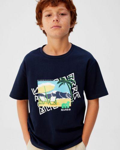Футболка футбольный синяя Mango Kids