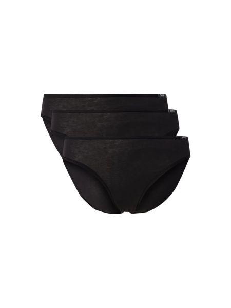 Czarne slipy bawełniane Skiny