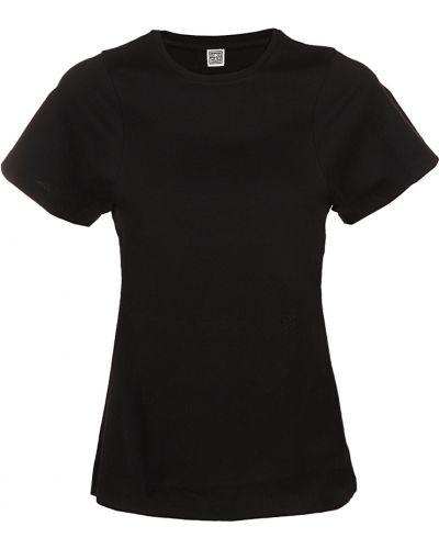 Czarna t-shirt Toteme