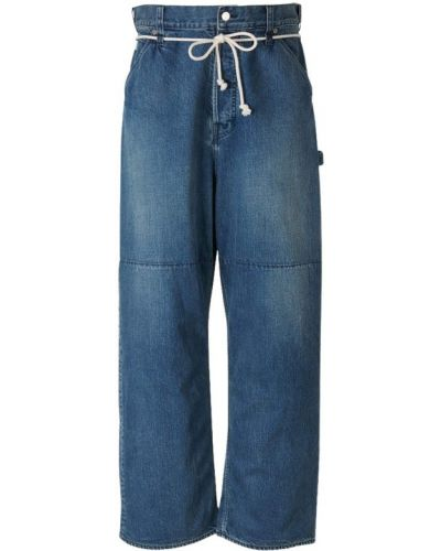 Niebieskie jeansy oversize Ambush