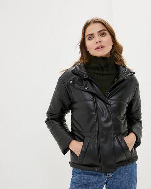 Кожаная куртка демисезонная черная Imocean