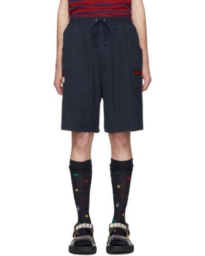 Krótkie szorty z kieszeniami brezentowy Gucci