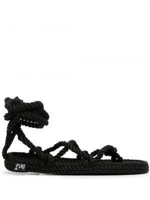 Sandały płaskie bez obcasa - czarne Nomadic State Of Mind