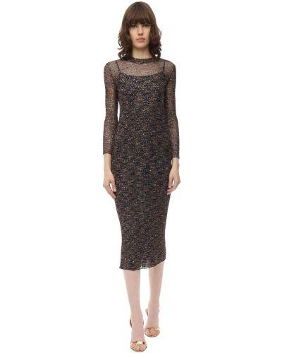 Платье миди с пайетками с вышивкой Missoni