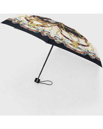 Czarny parasol Moschino