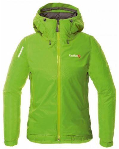 Утепленная куртка облегченная зеленая Red Fox
