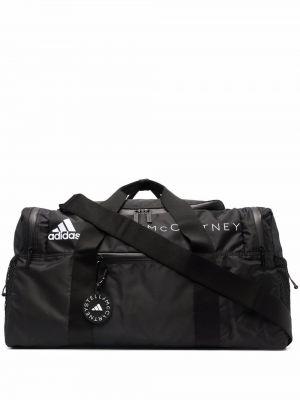 Черная дорожная сумка из полиэстера Adidas By Stella Mccartney
