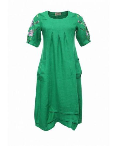 Повседневное зеленое платье Indiano Natural