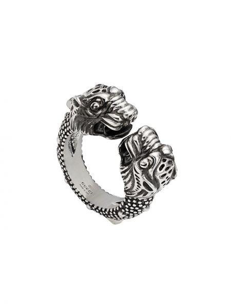 Pierścionek srebrny kaskadowy Gucci