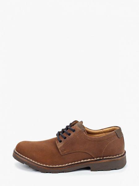 Коричневые туфли из нубука Wojas