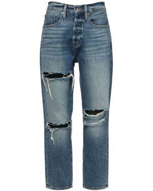 Синие укороченные джинсы с карманами в стиле бохо Frame