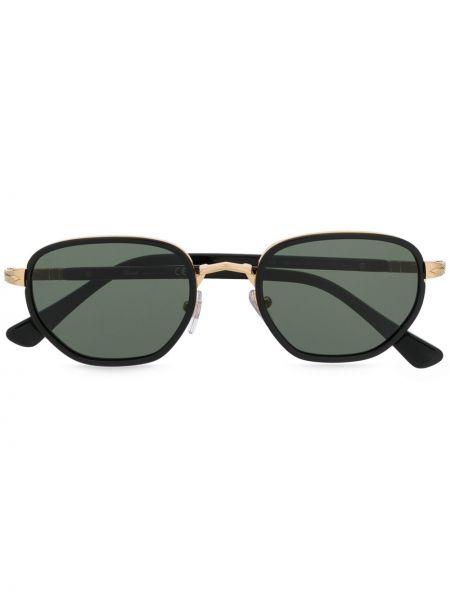 Черные солнцезащитные очки круглые Persol