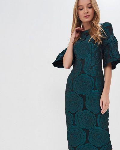 Повседневное платье осеннее зеленый Madam T