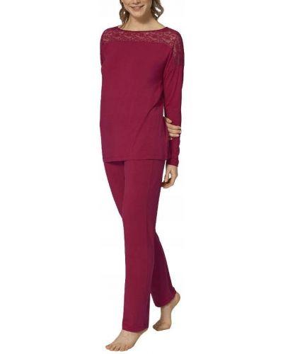 Piżama koronkowa z długimi rękawami z wiskozy Triumph