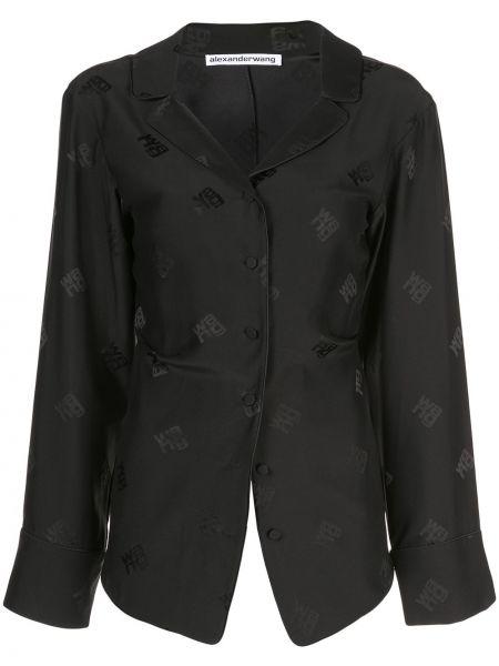 Блузка с длинным рукавом с лацканами классическая Alexander Wang