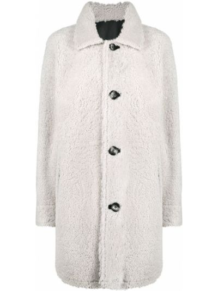Однобортное пальто классическое двустороннее с воротником на пуговицах Arma